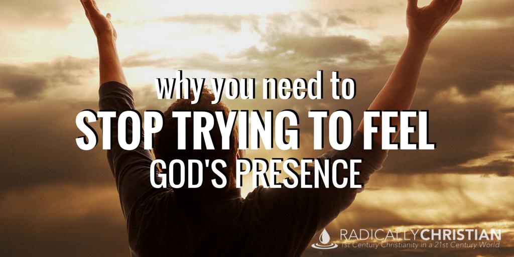 feel God's presence